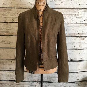 Calvin Klein Sage Green Ruffled Blazer Size 8